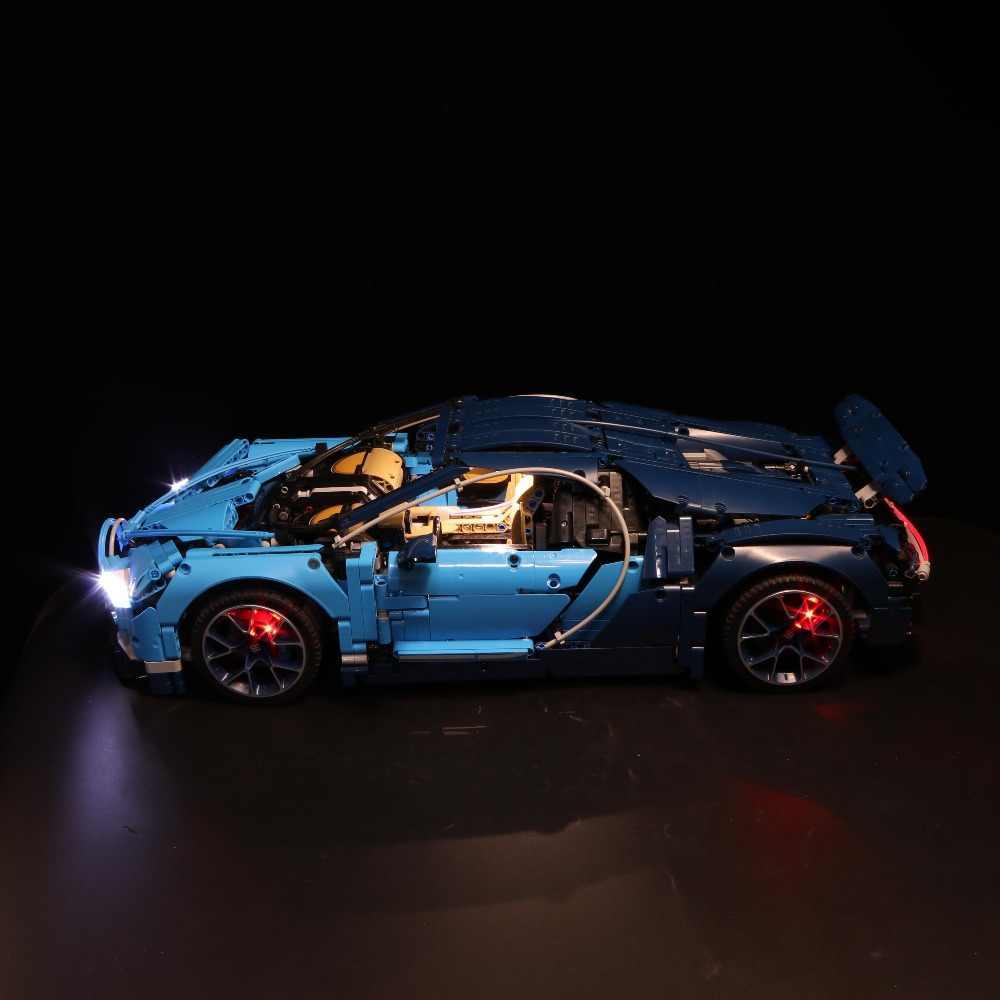 Zestaw światła Led do obsługi Lego 42083 kompatybilny 20086 Bugatti Chiron technic samochód wyścigowy klocki zabawki prezenty (tylko światło + opakowanie na baterie)