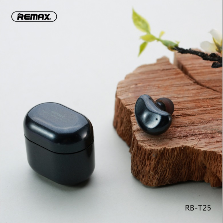 REMAX Monaural Bluetooth Headset For left ear only With Charging Box Bluetooth 5 0 earphone wireless earbud Intelligent touch in Bluetooth Earphones Headphones from Consumer Electronics
