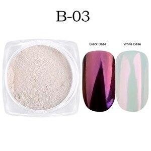 Image 3 - Full Beauty 3 Boxes Mirror Powder Set Nail Art Chrome Pigment Dust Shell DIY Glitter Manicure Blue Purple Decor Tips CHB01/03/04