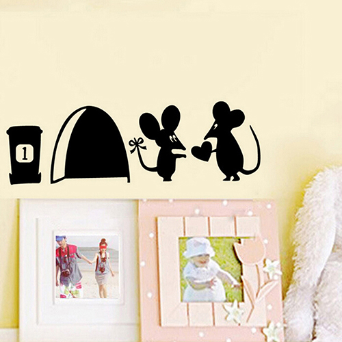 cute mouse couple love heart wall art sticker vinyl decal wall