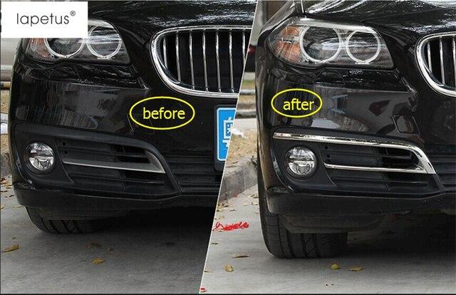 03787f518535 Accessories For BMW 5 Series 520i 525i 528i F10 F18 2014 2015 2016 Front  Fog Light Lamp Eyelid Eyebrow Frame Cover Kit Trim 2Pcs