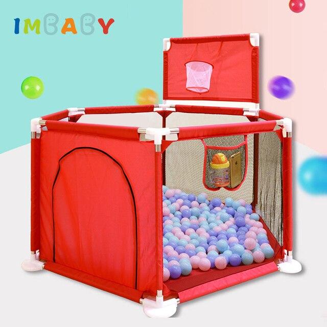 IMBABY Baby Playpen valla plegable barrera de seguridad para niños de 0 a 6 años Playpen Oxford juego de barrera de carpa para los niños