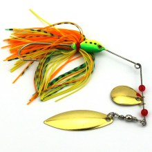 5pcs Fishing Spinner Lures Bass CrankBait Bait Tackle Crank Hook Vissen Harde Spinner Lokken Spinnerbait Pike Bass Lure New