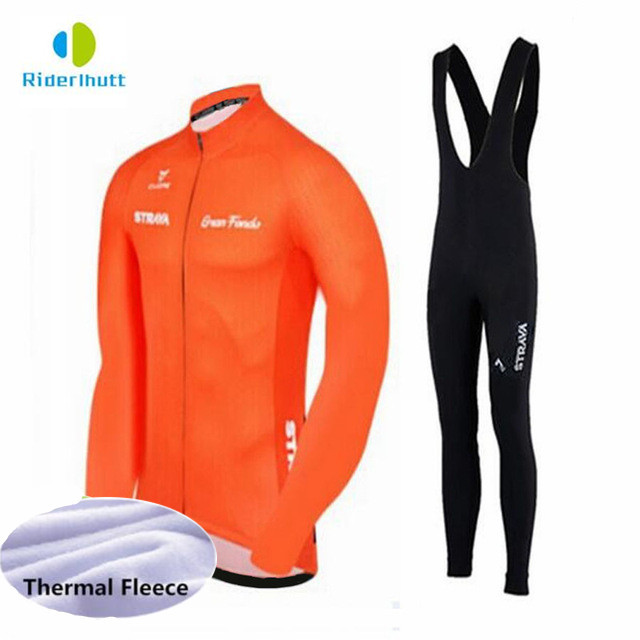 Winter Thermal Cycling Clothing 2018 Men Fleece Jersey Bike Bicycle suits  Cycling Kit Green Yellow Red Blue Ropa Ciclismo 3069c7791