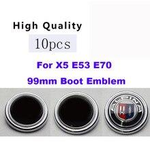10 unids/set 99mm insignia del emblema del coche cubierta del emblema del maletero del coche tapa con etiqueta insignia para x5 e35 e70 estilo del coche