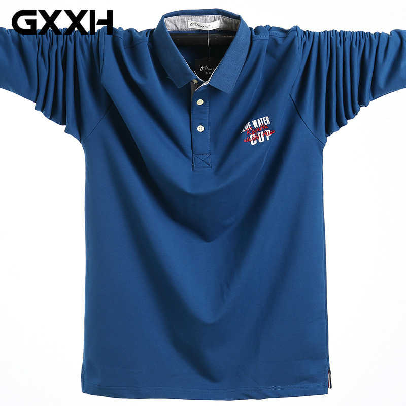 3341031f5c78de Detail Feedback Questions about GXXH 2018 Autumn Men Big and Tall Cotton Polo  Shirt Plus Size 3XL 4XL 5XL Letter Embroider Oversize Male Larger Loose Polo  ...