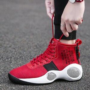 Баскетбольные кроссовки с высоким берцем для мужчин и женщин, дышащие баскетбольные кроссовки с амортизацией, противоскользящие спортивны...