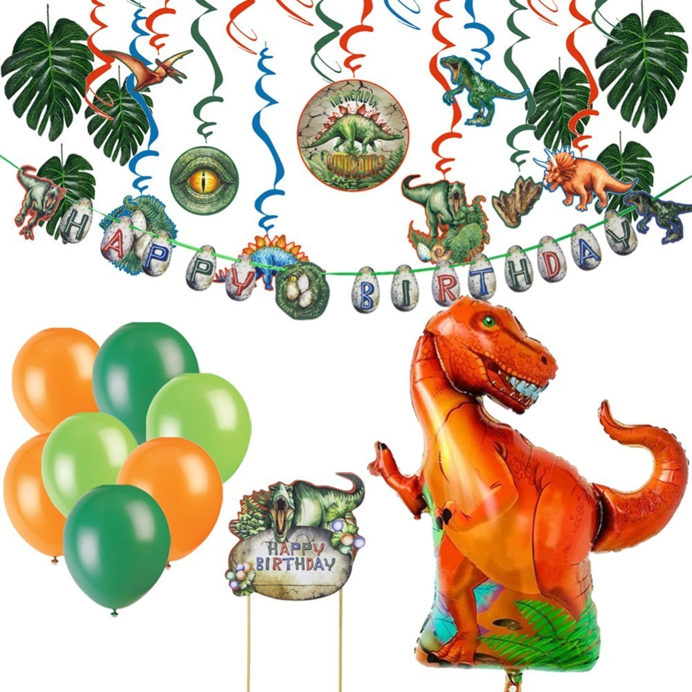 Dinosaur Party Foil Balloons Birthday Decoration Kids Jurassic Children Animal Supplies