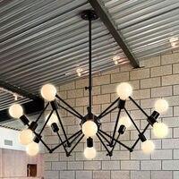 Oturma Odası Için Modern avize Işık Lambaları Asılı 12 Heads Örümcek Tasarım Vintage Düzeltilmiş olmadan DIY Lamba ampuller