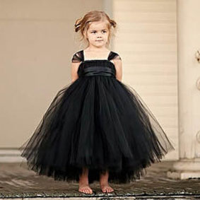 2017 New tutu black baby bridesmaid flower girl wedding dress tulle fluffy ball gown USA birthday evening prom cloth party dress tutu baby solid white bridesmaid flower girl wedding dress tailed tulle fluffy ball gown birthday evening party dress