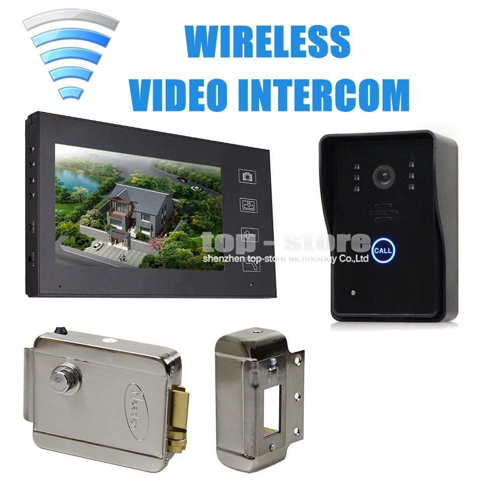 Diysecur Wireless 7 Inch Video Door Phone Intercom Doorbell Home