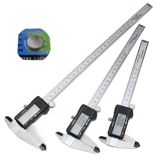 """0 150/200/300 مللي متر 6 """"8"""" 12 """"الفولاذ المقاوم للصدأ الإلكترونية فرجار رقمي trammel الدقة متري أداة القياس مع شاشة LCD"""