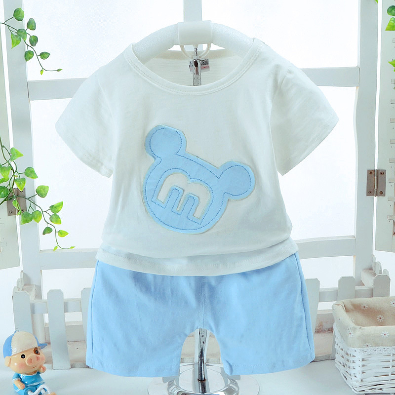2018 New Summer Clothing Sets For Boys Girls Cotton Cartoon Baby Sports Suit Active Girls Clothes Set Kids Fashion Sportwear