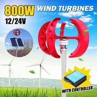 800 Вт 12 В/24 В генератор энергии ветра вертикальный ветер T urbine фонарь 5 лопасти и двигатель с контроллером для домашнего использования