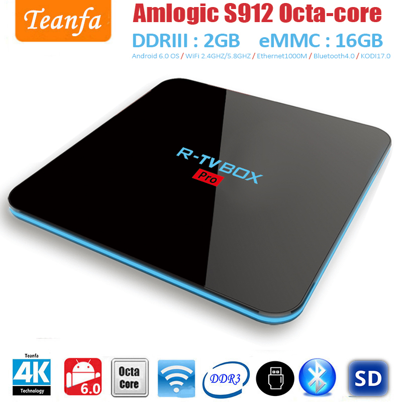 Smart Box tv Amlogic S912 Octa Core 2G/16G tv box android 6.0 4K TV BOX 2.4G+5G WIFI Bluetooth 1000M LAN android tv box smart box tv amlogic s912 octa core 2g 16g tv box android 6 0 4k tv box 2 4g 5g wifi bluetooth 1000m lan android tv box