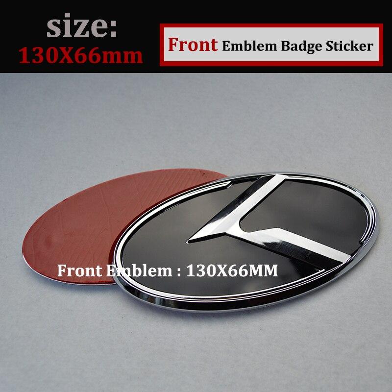 Vente chaude 2 pcs 3D autocollant L'avant du Capot Emblème Tête Capot Étiquette Couverture pour KIA K2/K3/K4/K5 sorento voiture Queue boot Emblème