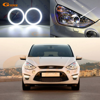 For Ford S Max S Max 2006 2014 Xenon headlight smd led Angel Eyes kit Day Light Excellent Ultra bright illumination DRL