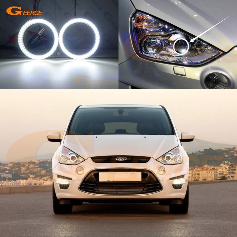 Pour Ford S-max S Max 2006-2014 xénon smd led Ange Yeux kit Jour Lumière Excellente ultra éclairage lumineux DRL