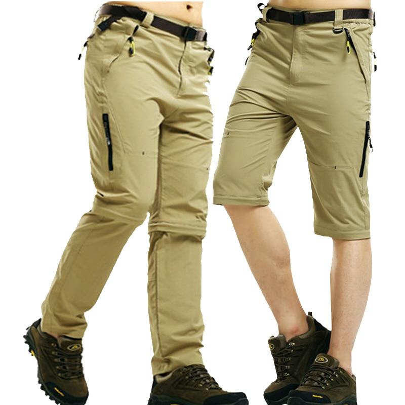 NaranjaSabor 2019 Summer Quick Dry Men's Pants Men Trousers Removable Sweatpants Waterproof Army Pants Mens Brand Clothing 5XL