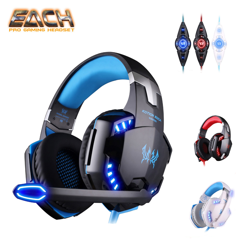 KOTION EACH G2200 USB 7.1 Surround Sound Vibration Gaming Headset Headp
