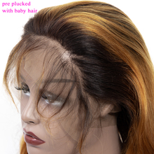 1B/30 Body Wave Ombre Lace Wig For Black Women Pre Plucked With Baby Hair Brazilian Remy Full Lace Human Hair Wigs