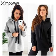 цена Hooded pullover sweatshirt female Thick warm warm pullover hoodie Leisure Baita Fashion Women's Sweatshirt Xnxee онлайн в 2017 году