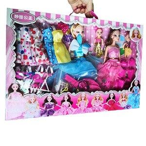 Image 4 - 154 個絶妙なギフトボックスの誕生日プレゼントdiy人形教育玩具プリンセスの人形セット服ままごとのおもちゃコスプレ