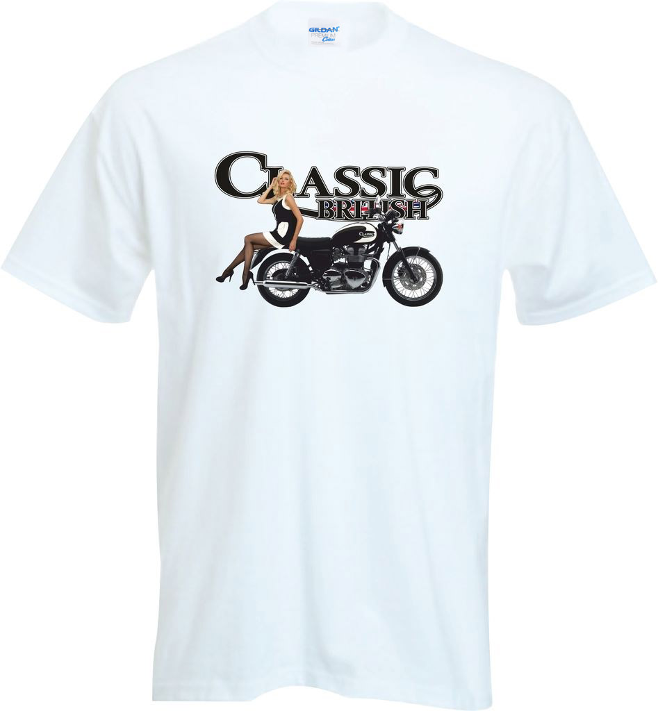100 % Cotton T Shirt For Men Clothing High Quality British Classic Motorcycle Biker Cafe Racer Motorbike Apparel Top Tee Shirt