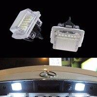 PA LED 2PCS x For Mercedes Benz LED Canbus License Plate Light E350 W204 C300 C350 W212 White LED Light