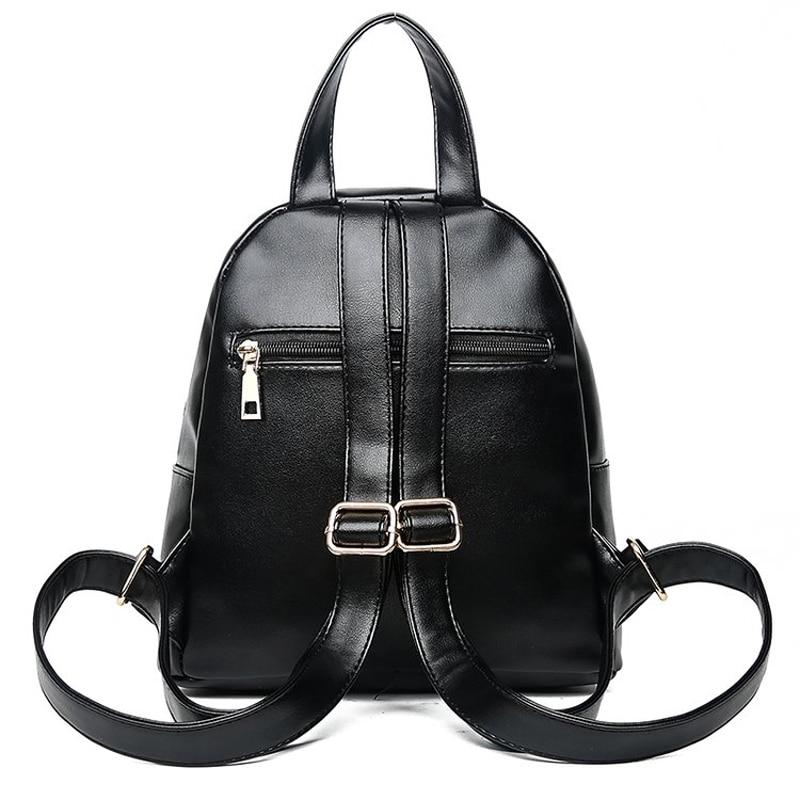 2018 damen mode rucksack casual schulter tasche college stil hohe qualität paket einfache feste farbe
