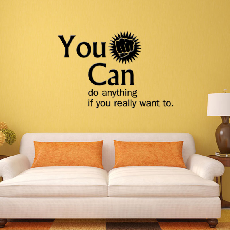 You Can Encouragement Vinyl Wall Stickers Home Decor Younger Room 39 S Wall Decals Office Wall