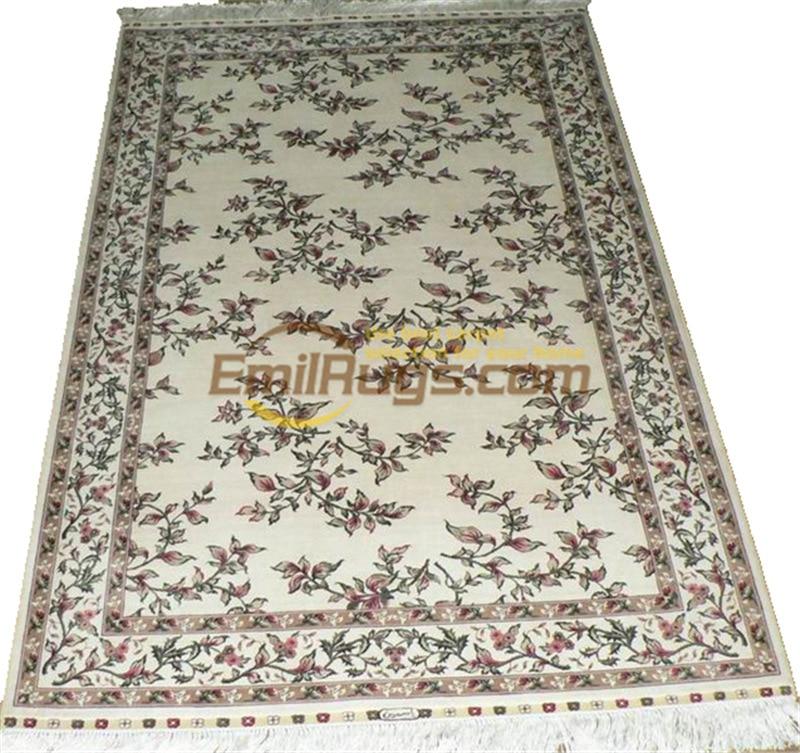 Laine ou soie persan Antique chinois fait à la main laine décor maison pour salon naturel laine de mouton tapis de Style sud-ouest - 5