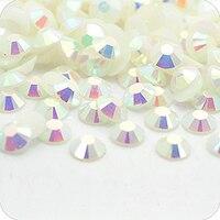 Jelly Kryształ AB Kolor 2mm, 3mm, 4mm, 5mm, 6mm Aspekty Płaskie powrót Żywica Rhinestone Gems Nail Art Dekoracje, Odzieży dżetów