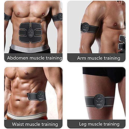 Abdominal Muscle Trainer Massage Stimulator Ab Wireless Vibration Body Slimming Machine Fat Burning Fitness Training Hip Workout
