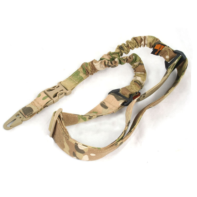 New Tactical Nylon Double Point Adjustable Military Bungee Rifle Gun Sling System Strap ACU CP-in Hunting Gun Accessories from Sports & Entertainment