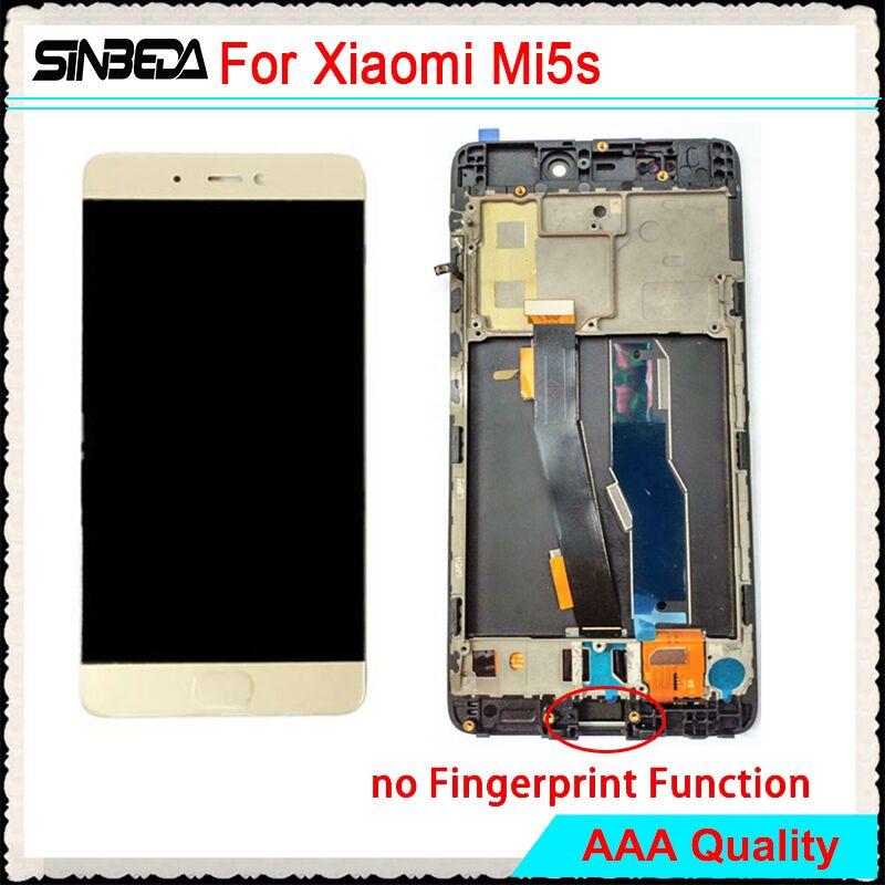 Sinbeda Nuovo Display LCD Per Xiaomi MI 5 s Mi5s M5s Touch Screen Digitizer Assembly + Frame Per Xiaomi MI5s 5.15