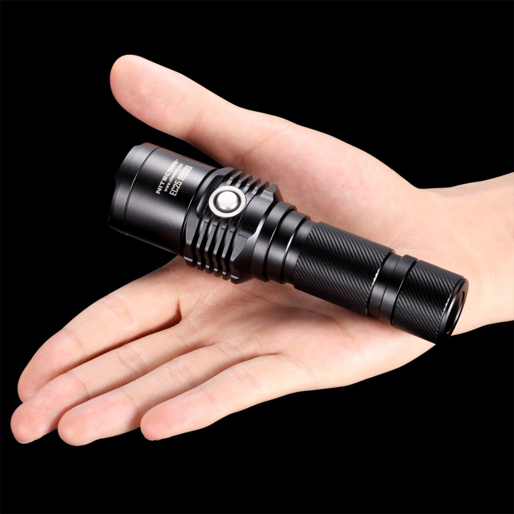 Nitecore EC25W  960 Lumens CREE XM-L U2 LED Flashlight  8-Mode Waterproof Outdoor Camping Hunting Portable Torch Free Shipping nitecore mt10c portable tactical flashlight cree xm l2 u2 led 920 lumens red light illumination waterproof with imr18350 battery