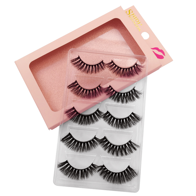 SHIDISHANGPIN 5 Pairs Eyelashes Natural Mink Eyelashes Fluffy 3d Mink Lashes Thick False Lashes Makeup Fake Eyelashes cilios 2