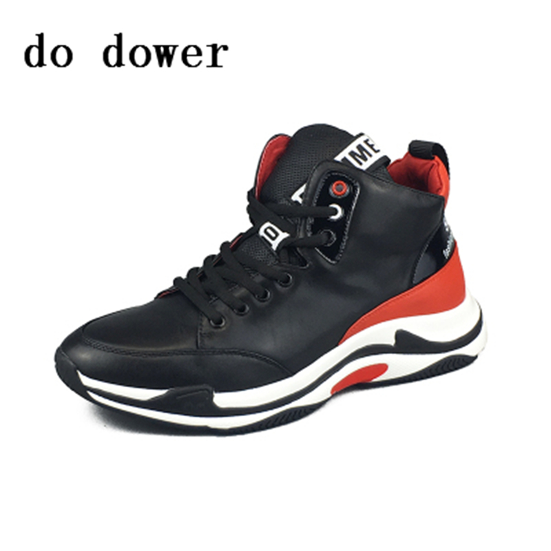 Spring New Hot Men Casual Torre Shoes Luxury Trainers Summer Male Genuine Leather Dady Shoes Lace-up Platform Sneakers