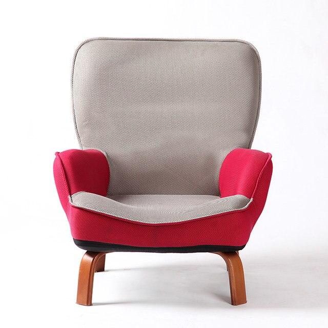 Japanischen Niedrigen Sofa Sessel Polster Mesh Stoff Holz Beine Wohnzimmer  Möbel Moderne Entspannen Dekorative Akzent Stuhl Design