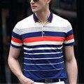 Летом Стиль Классический Хлопок Polo Рубашки С Коротким Рукавом Мужчин Поло Фитнес Комфортно Рубашки Верхней Мужчины Дышащая Случайные Poloshirt