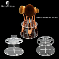 Happy Makeup 5 Holes Pro Makeup Oval Toothbrush Brushes Tools Stand Drying Holder Tree Dryer Organizer