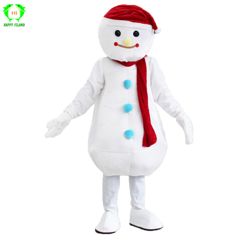 New Christmas Snowman Mascot Costume Christmas Cosplay Costume Birthday Party Halloween Costume Fancy Dress for Adult