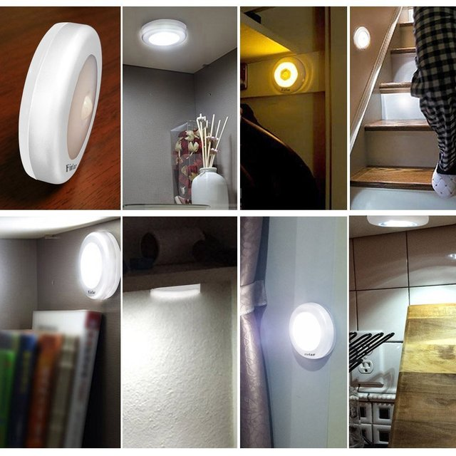 Bewegungssensor Licht Wirless Batteriebetriebene Nacht Leuchtet Treppen  Stick Überall Led Nachtlicht Für Schlafzimmer Energy