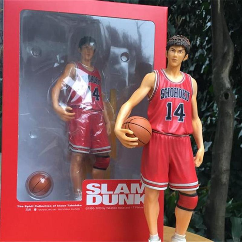 ФОТО 1pc/lot Anime Slam Dunk Mitsui Hisashi Shooting Guard Slamdunk 23cm PVC Action Figure Collection Model Toys