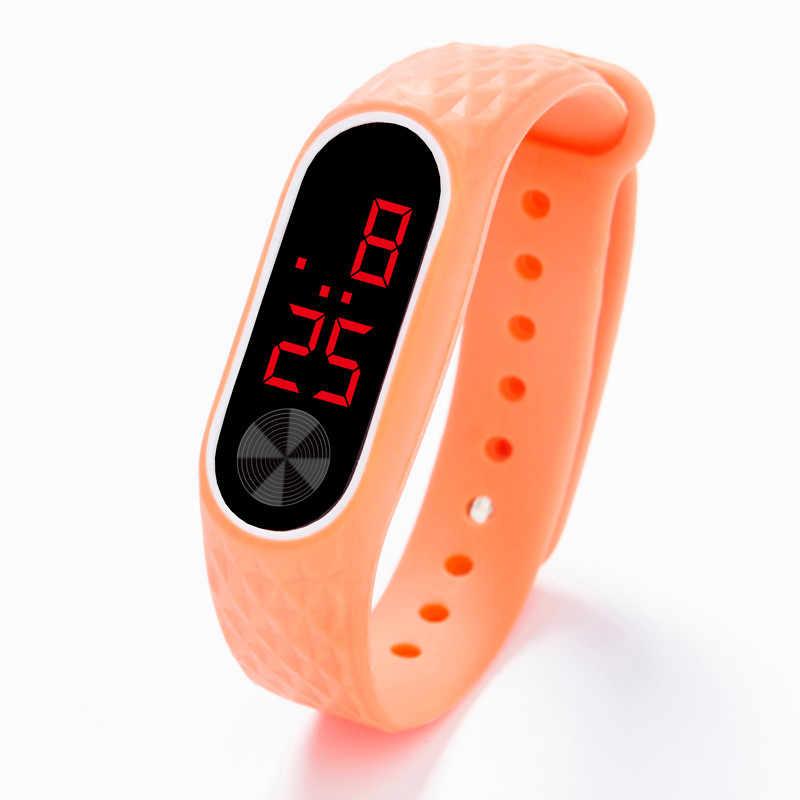 LED cyfrowy wyświetlacz bransoletka zegarek mężczyźni kobiety żel krzemionkowy zegarek sportowy zegarek elektroniczny moda gif zegarek męski Outdoor s