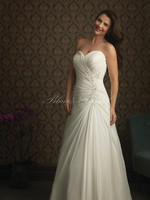 Beautiful Soft Chiffon Floor Length White Ruching Style Appliques Sweetheart And Lace Up Custom Wedding Dress
