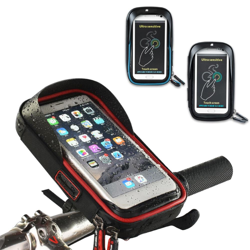 Cykel Cykel Motorcykel Telefonhållare Vattentät Fodral Täckväska Styret Montering Stativfäste Mobiltelefon Smartphone Tillbehör