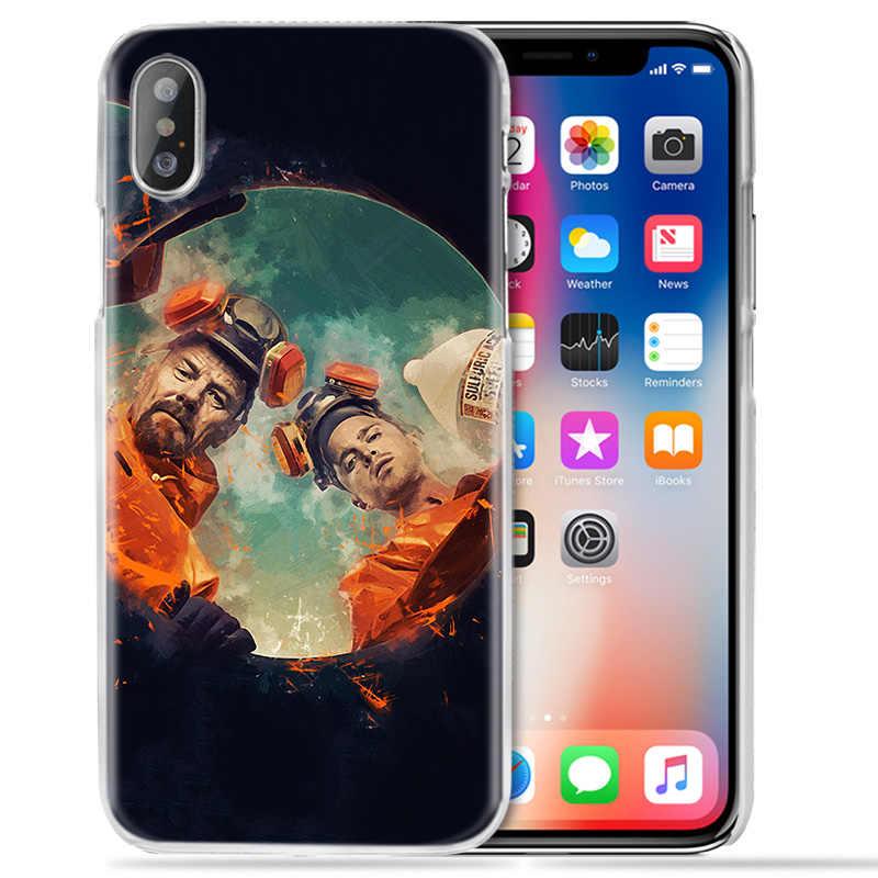 Breaking bad przypadku dla iPhone XS Max XR X 10 7 7S 8 6 6S Plus 5S SE 5 4S 4 5C jasne twarde plastikowe 11 Fundas Capa telefon pokrywa Coque