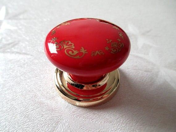 Drawer Pulls Handles Ceramic Cabinet Knobs Kitchen Door Knob ...